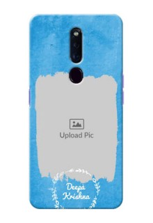 Oppo F11 Pro custom mobile cases: Blue Color Vintage Design