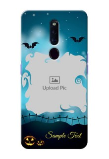 Oppo F11 Pro Personalised Phone Cases: Halloween frame design