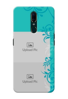 Oppo F11 Mobile Cases with Photo and Green Floral Design