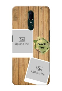 Oppo F11 Custom Mobile Phone Covers: Wooden Texture Design
