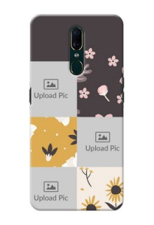 Oppo F11 phone cases online: 3 Images with Floral Design