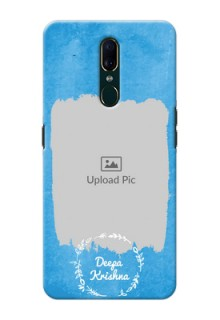Oppo F11 custom mobile cases: Blue Color Vintage Design