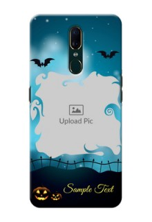 Oppo F11 Personalised Phone Cases: Halloween frame design