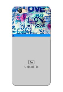 Oppo F1s Colourful Love Patterns Mobile Case Design