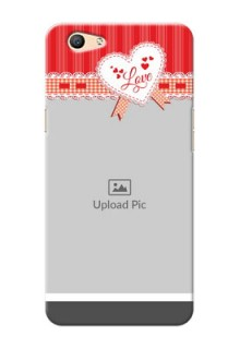 Oppo F1s Red Pattern Mobile Cover Design