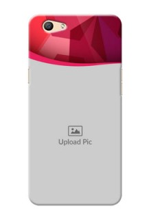 Oppo F1s Red Abstract Mobile Case Design