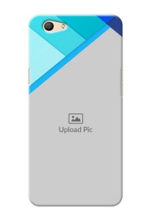 Oppo F1s Blue Abstract Mobile Cover Design