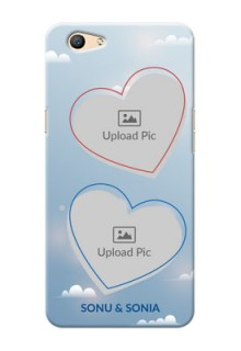 Oppo F1s couple heart frames with sky backdrop Design