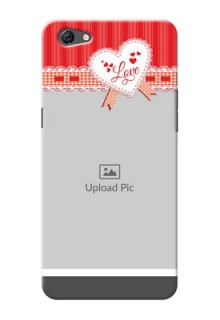 Oppo F3 Plus Red Pattern Mobile Cover Design