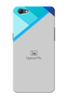 Oppo F3 Plus Blue Abstract Mobile Cover Design
