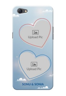 Oppo F3 Plus couple heart frames with sky backdrop Design