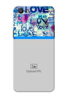 Oppo F3 Colourful Love Patterns Mobile Case Design