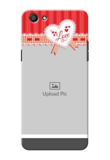Oppo F3 Red Pattern Mobile Cover Design