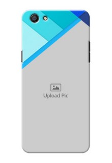 Oppo F3 Blue Abstract Mobile Cover Design