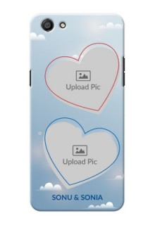 Oppo F3 couple heart frames with sky backdrop Design