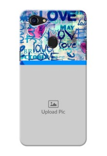 Oppo F5 Colourful Love Patterns Mobile Case Design