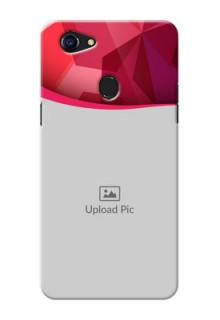 Oppo F5 Red Abstract Mobile Case Design
