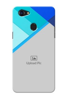 Oppo F5 Blue Abstract Mobile Cover Design
