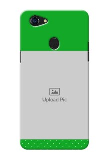 Oppo F5 Green And Yellow Pattern Mobile Cover Design