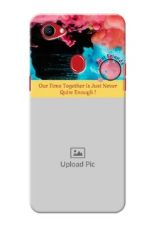 Oppo F7 best friends quote with acrylic painting Design