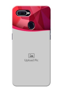 Oppo F9 Pro Red Abstract Mobile Case Design