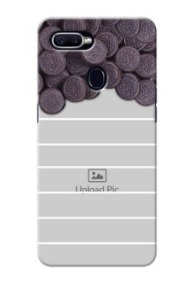Oppo F9 Pro oreo biscuit pattern with white stripes Design
