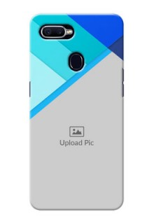 Oppo F9 Blue Abstract Mobile Cover Design