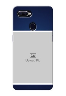 Oppo F9 Simple Blue Colour Mobile Cover Design