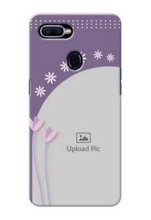 Oppo F9 lavender background with flower sprinkles Design