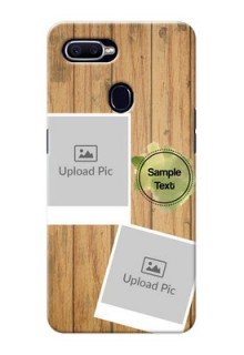 Oppo F9 3 image holder with wooden texture  Design