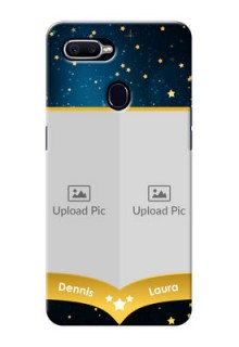 Oppo F9 2 image holder with galaxy backdrop and stars  Design