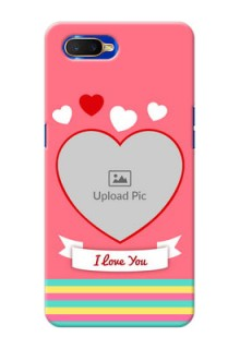 Oppo K1 Personalised mobile covers: Love Doodle Design