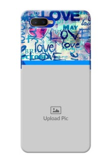 Oppo K1 Mobile Covers Online: Colorful Love Design