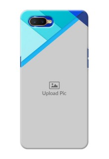 Oppo K1 Phone Cases Online: Blue Abstract Cover Design