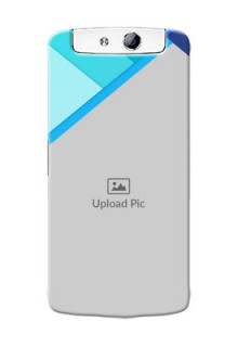 Oppo N1 Blue Abstract Mobile Cover Design