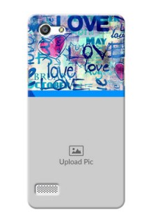 Oppo Neo 7 Colourful Love Patterns Mobile Case Design