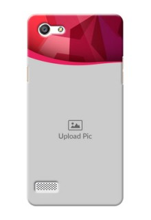 Oppo Neo 7 Red Abstract Mobile Case Design