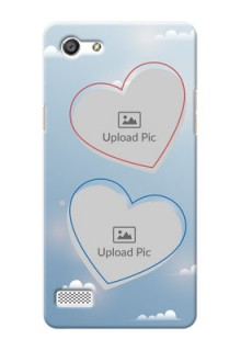 Oppo Neo 7 couple heart frames with sky backdrop Design