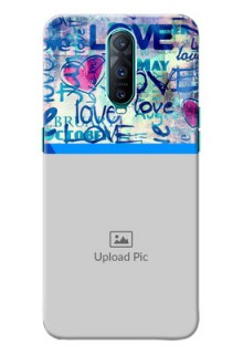 Oppo R17 Pro Mobile Covers Online: Colorful Love Design