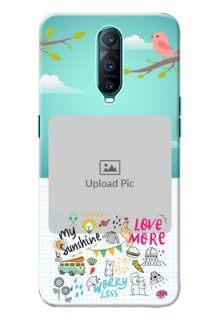 Oppo R17 Pro phone cases online: Doodle love Design