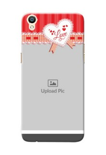 Oppo R9 Red Pattern Mobile Cover Design