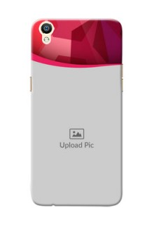Oppo R9 Red Abstract Mobile Case Design