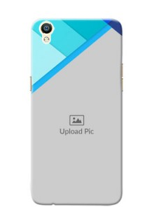Oppo R9 Blue Abstract Mobile Cover Design