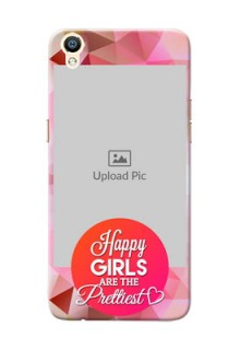 Oppo R9 abstract traingle design with girls quote Design