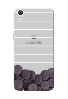 Oppo R9 oreo biscuit pattern with white stripes Design Design