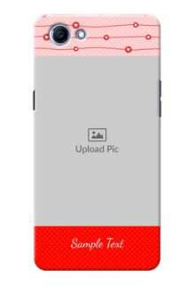 Oppo Realme 1 Red Pattern Mobile Case Design