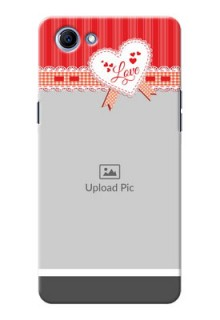Oppo Realme 1 Red Pattern Mobile Cover Design