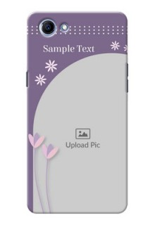 Oppo Realme 1 lavender background with flower sprinkles Design