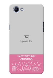 Oppo Realme 1 plain birthday line arts Design