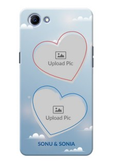 Oppo Realme 1 couple heart frames with sky backdrop Design